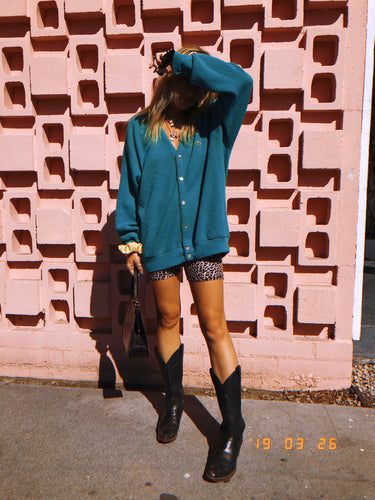 Teal Lacoste Cardigan