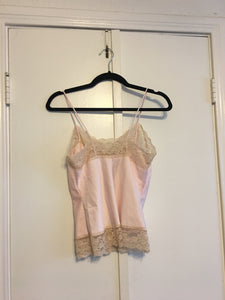 Baby Pink Lace Cami - Small