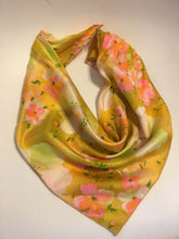 Pink & Yellow Floral Scarf