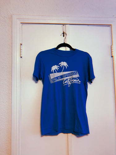 Blue Palm Springs Tee - M