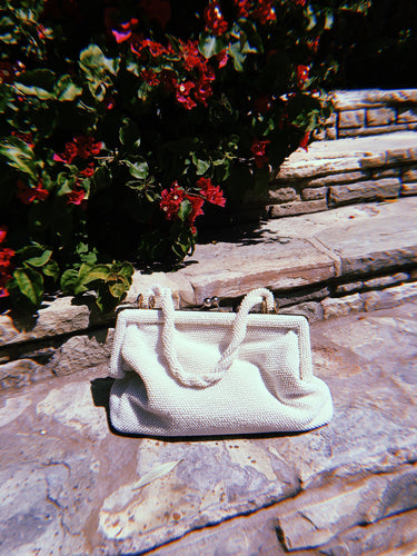 White Beaded Handbag