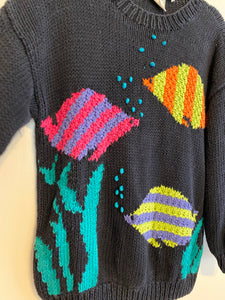 Crewneck Fish Sweater - S