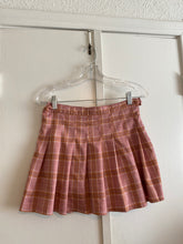Pink Plaid Pleated Mini Skirt