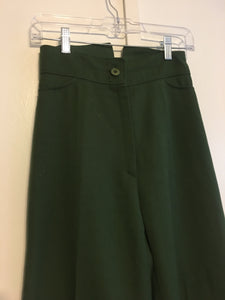 Green High Waisted Flares