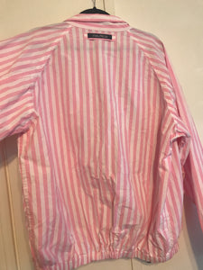 Pink & White Striped Jacket - XL