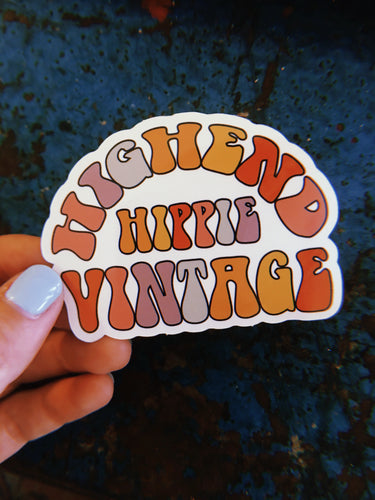 High End Hippie Vintage Sticker