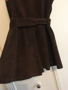 1970's Suede Snap Up Dress