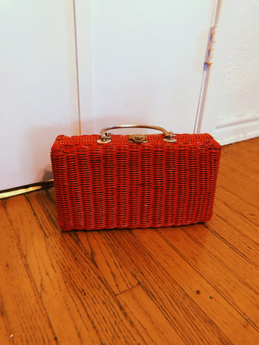 Red Wicker Bag