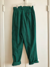 Green Plaid Menswear Pants - 25/26