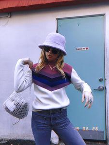 Purple Striped Snuggler Sweater
