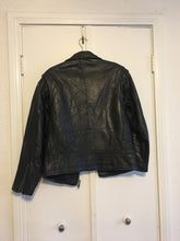Unisex Black Leather Jacket - XL