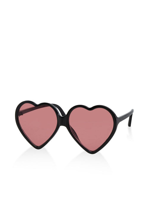 Women's Colored Heart Sunglasses