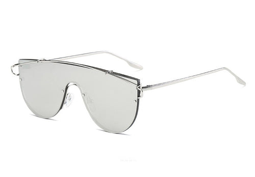Rimless reflective sunglasses | The Shade Box