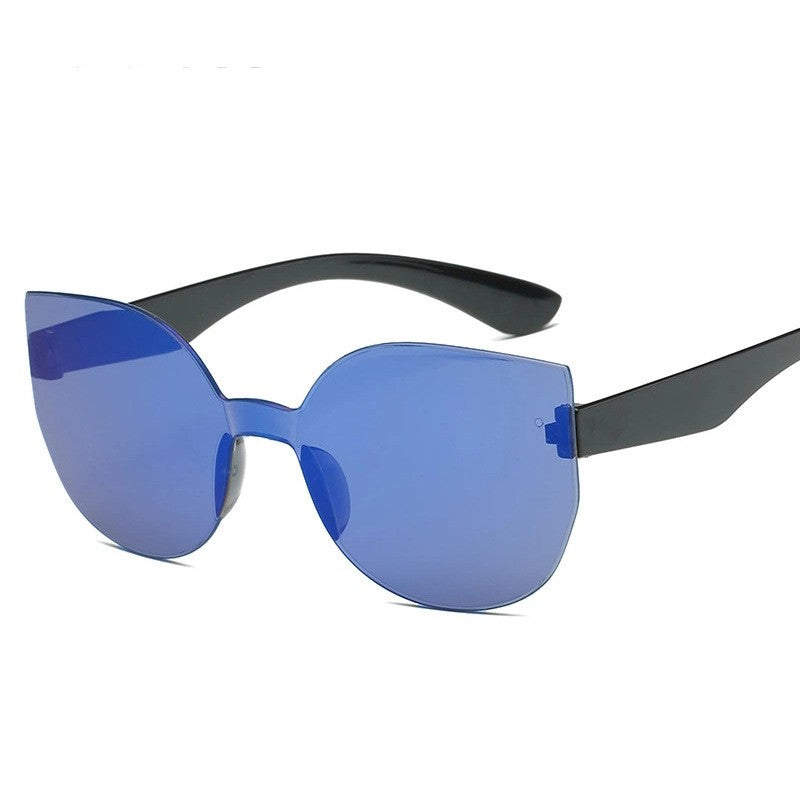 Women Rimless cateye sunglasses
