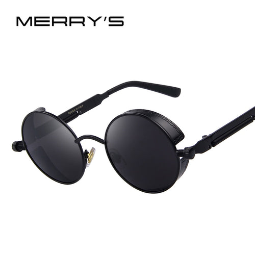 Vintage Women's Steampunk  Round Sunglasses