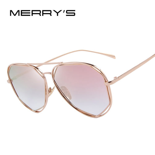 Women Coating Mirror Flat Panel Lens Sunglasses