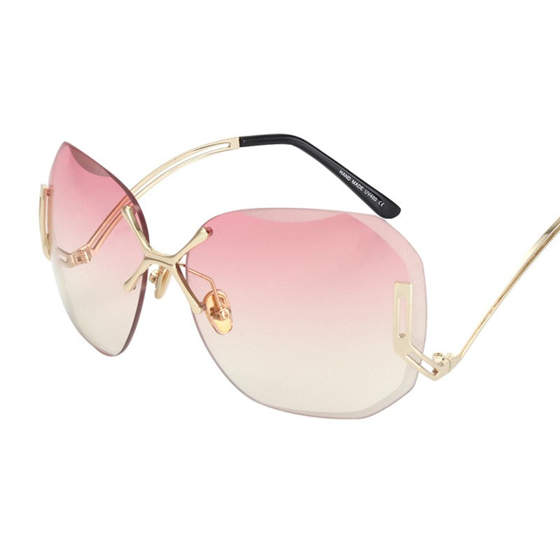 Rimless Women Vintage Coating Sunglasses | The Shade Box