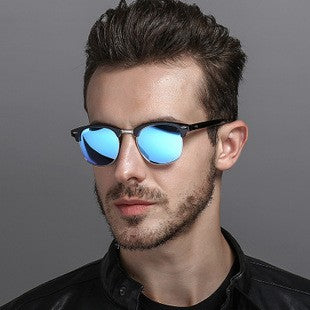 Driving mirror polarizer men's sunglasses