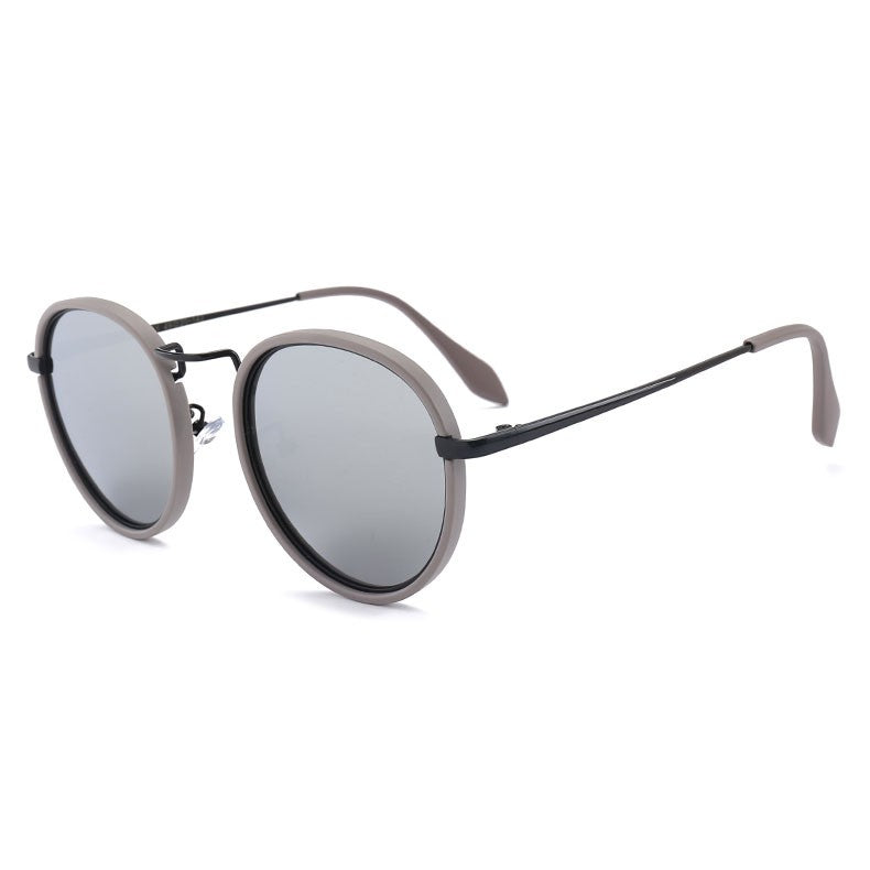 Unisex Polarized Round Frame Outdoor Driving Sunglasses