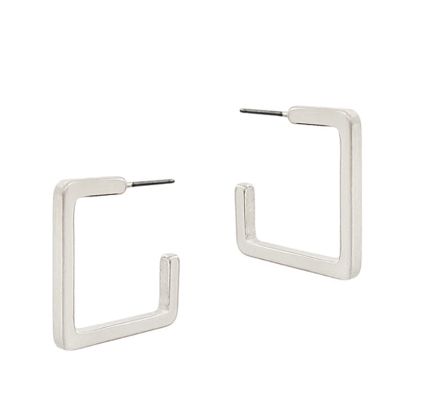 Matte Square Stud Earrings