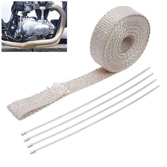 Thermal insulation bandage for exhaust manifolds for cars and motorbikes
