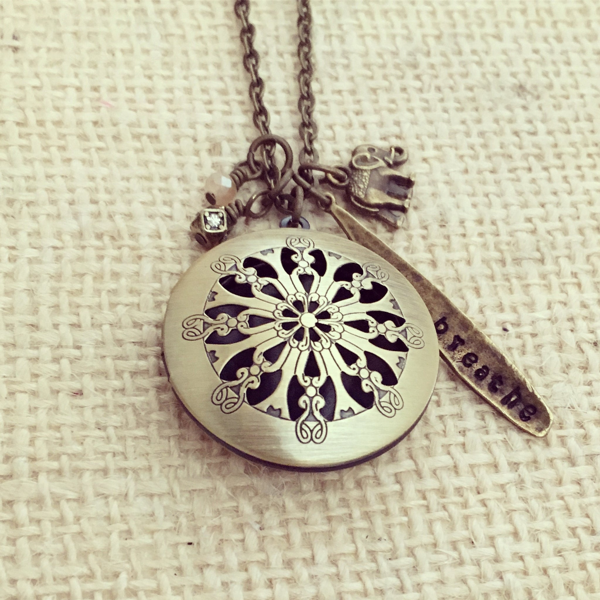 pendant oil tree products steel adjustable necklace of profil locket stainless diffuser life with chain essential