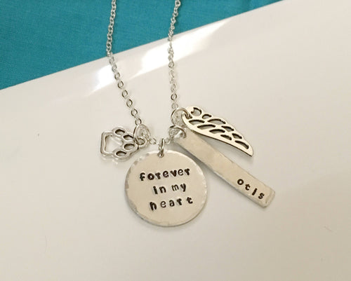 memorial jewelry-pet memorial jewelry-memorial necklace-pet loss necklace-pet lost-dog jewelry