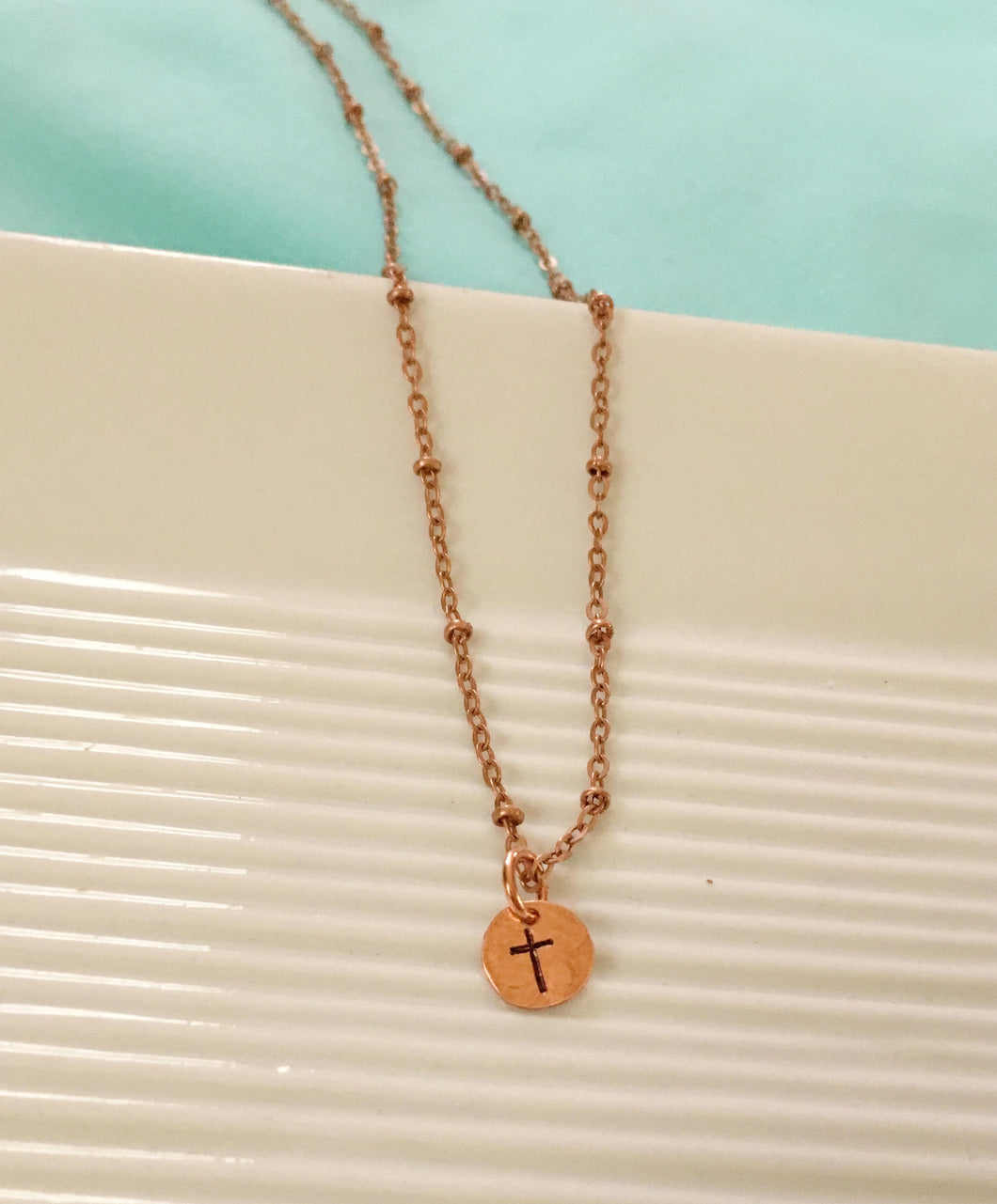 cross necklace-spiritual jewelry-cross jewelry-copper necklace-hand stamped-rustic cross necklace