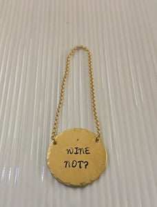 Hostess gift-wine bottle tag-wine gift-hand stamped-Christmas gift-birthday gift