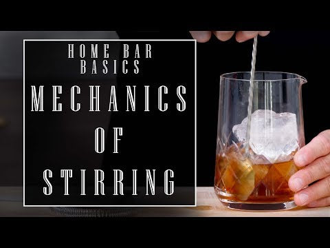 Mechanics of Stirring a Drink by the Educated Barfly