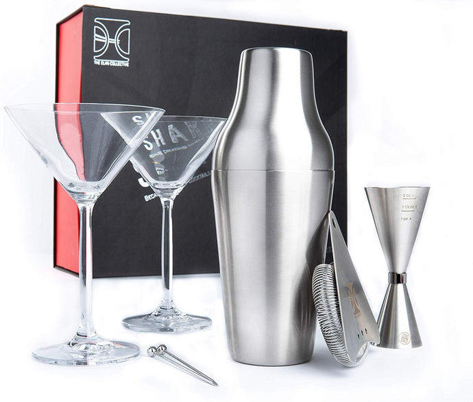 Shake it Up Cocktail Set with 2 Martini Glasses