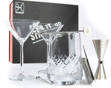 Stir it Up Cocktail Set with 2 Martini Glasses