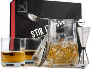 Stir it Down Cocktail Set with 2 Rocks Glasses