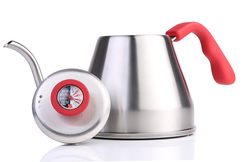 Pour Over Kettle | Thermometer, Gooseneck Spout, Heat-Resistant Handle, 1.2 liter