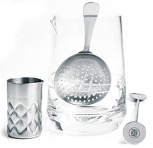 Dealer's Choice 4 Piece Mixing Glass Set, Dolan Pond design