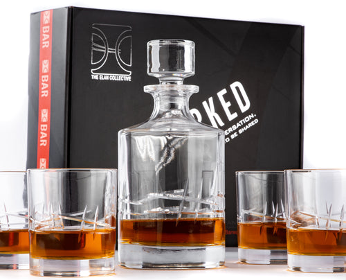 Uncorked -  5 Piece Whiskey Decanter Set, The Dolan design