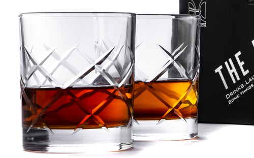 THE ROCKS Whiskey Glass Set, The Lincoln design
