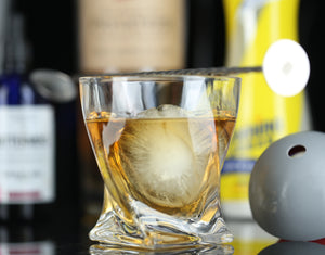 The Charles Whiskey Glass Set with large Ice Sphere Molds