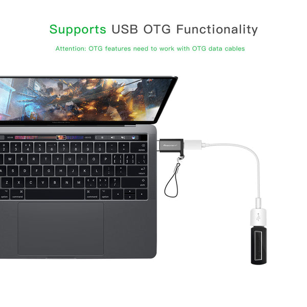 USB Type C Male to Micro USB Female Adapter