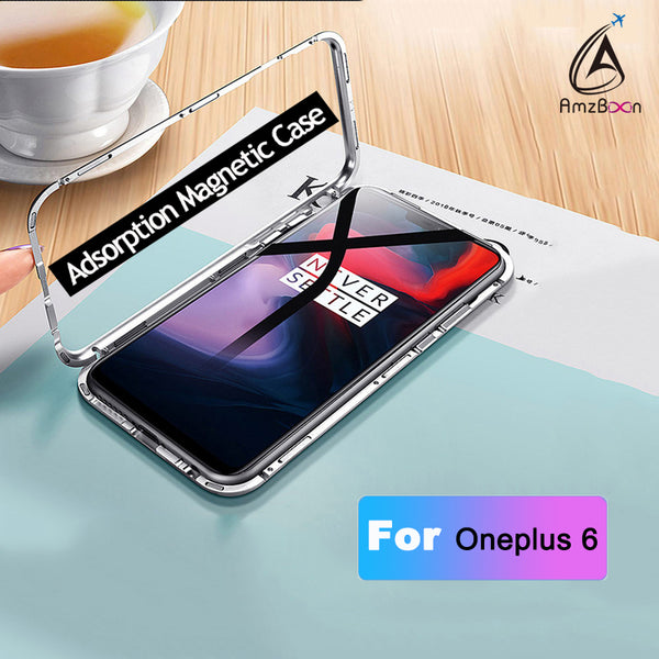 Magnetic Adsorption metal case For Oneplus6
