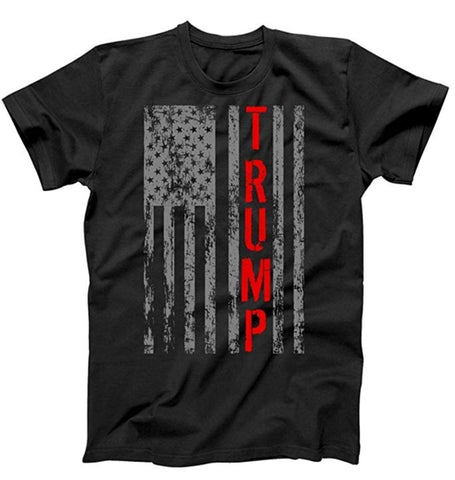USA Flag Trump/Fireman T-Shirt