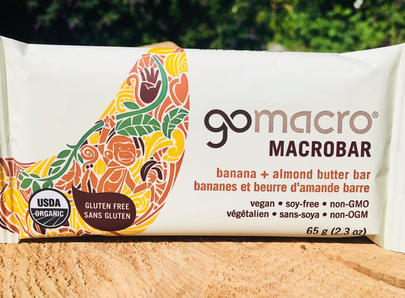 GoMacro Macrobar - Banana + Almond Butter Case of 12 $3.39/Bar