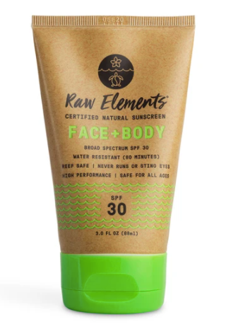 Raw Elements FACE + BODY TUBE SPF 30 $21.99