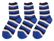 Fuzzy Striped Socks - 3 Pairs