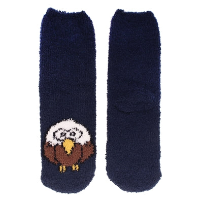 Animal Cuff Fuzzy Socks - Eagle