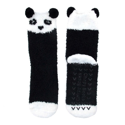 Animal Cuff Non-Slip Fuzzy Socks - Panda