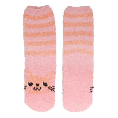 Animal Cuff Fuzzy Socks - Rabbit