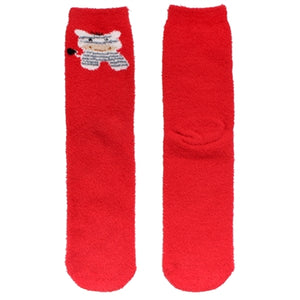 Christmas Cute Fuzzy Crew Socks - 8 Pair Full Collection