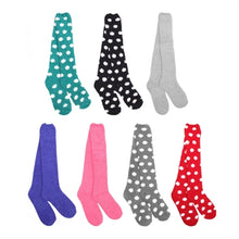 Knee High Fuzzy Microfiber Socks Assortment- 3 Pairs