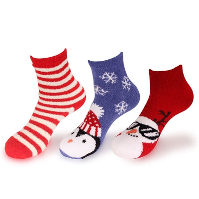 Christmas Super Soft Fuzzy Socks - 3 Pairs